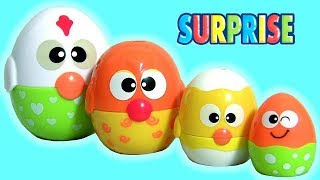 Chicken 'N Egg Stackers Disney Toys Surprise Nesting Stacking Cups CARS3 TROLLS Mickey