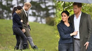 Duchess of Wellingtons! Meghan and Harry arrive in Auckland for a tour of native bushland