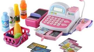 Máy tính tiền đồ chơi trẻ em - Bé tập làm nhân viên siêu thị - Supermarket Cash Register Toy