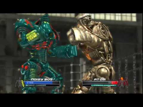 REAL STEEL-Green Noisy Boy vs Golden Atom & Blackjack vs Ninja(ЖИВАЯ СТАЛЬ)