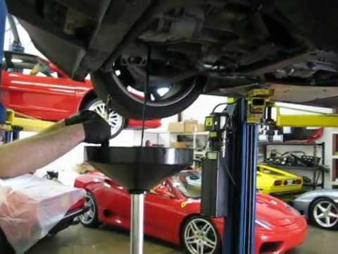 Lamborghini Gallardo:  How to drain engine oil and differential fluids (and have FUN!)