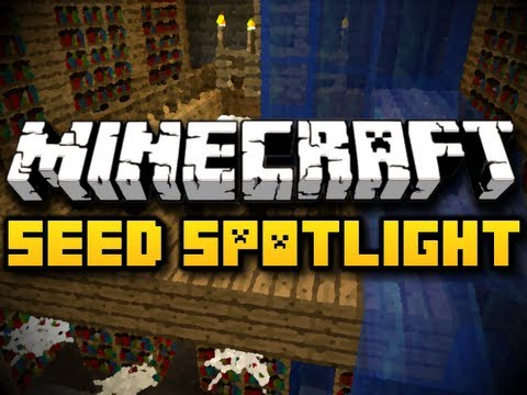 Minecraft Seed Spotlight #16 - UNDERWATER LIBRARY! (HD)