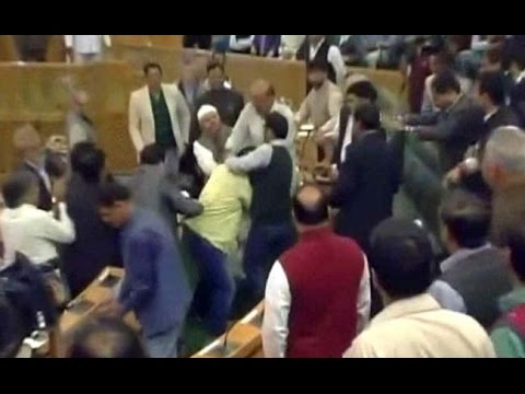 Opposition MLAs Disrupt Jammu & Kashmir Assembly Proceedings