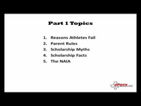 Earn A College Athletic Scholarship (Part 1 of 3)