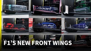 How the new 2019 F1 front wings compare
