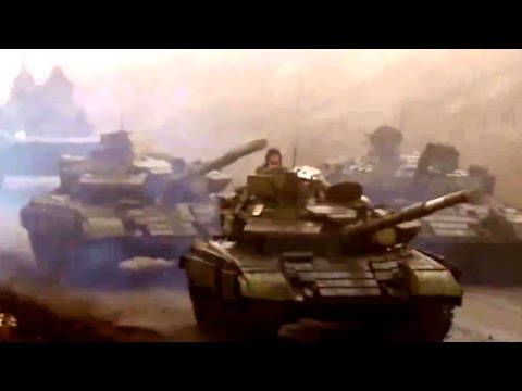 Russian Terrorist Military Hardware Convoy Moves Towards Mariupol During Ceasefire, Dec 12 2014
