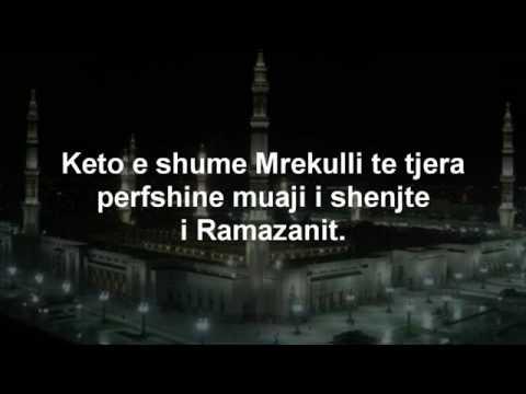 Rendesia e Ramazanit dhe Vaktia 2010 per Regjionin e Kosoves