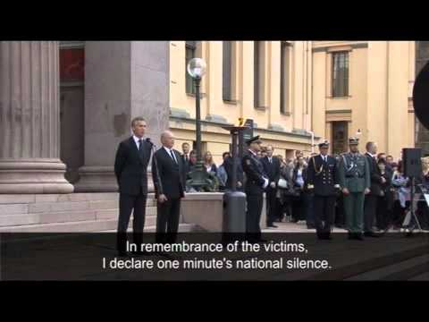 Norway's prime minister leads mourning   video   World news   guardian co uk