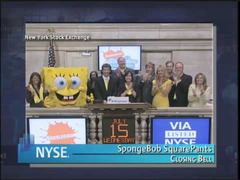 15 July 2009 NYSE Closing Bell SpongeBob Square pants Video