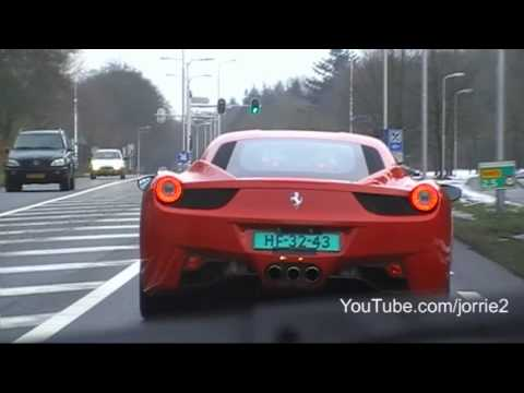 Chasing the new 2010 Ferrari 458 Italia! Incredible sound!