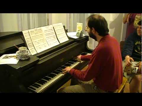 Ghosts 'n Goblins -  - theme sight-read by Tom Brier, piano - 