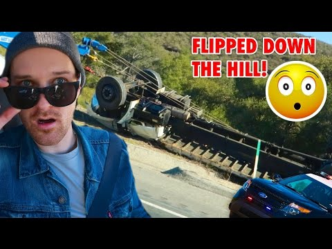 BIGGEST SEMI TRUCK CRASH I'VE SEEN!