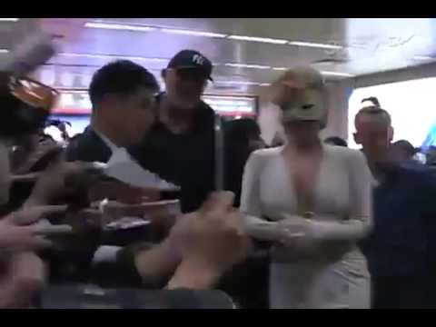 Lady Gaga Arriving At South Korea: April 20,2012