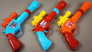 Toy Guns: 3 Awesome Colored Gun Toys with Lights, Sounds and Music - Box of Toys with Learn Colors