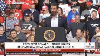 Donald Trump, Jr. Full Speech at President Trump Rally in Manchester, NH 2/10/20