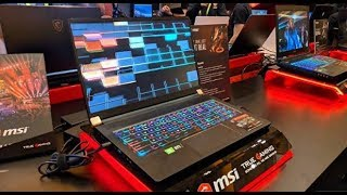 MSI 17.3-inch GS75 Stealth with RTX 20 graphics gaming laptop hands on video |CES 2019.
