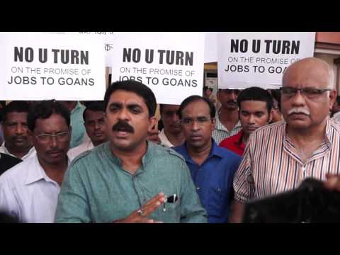Goa Forward FLASH MOB @ Verna - Right of Goans for Job (1/2)