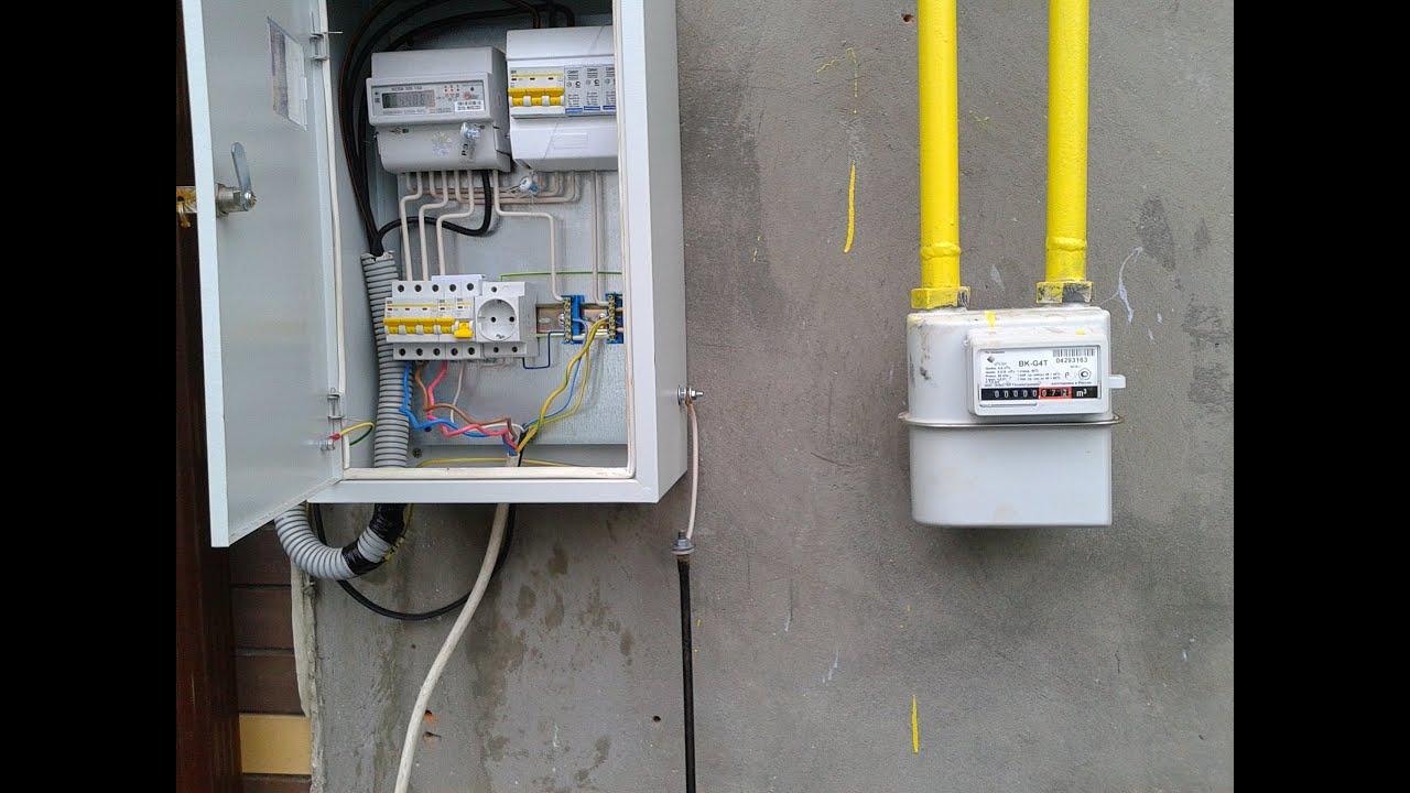 Ящик для учета электроэнергии своими руками