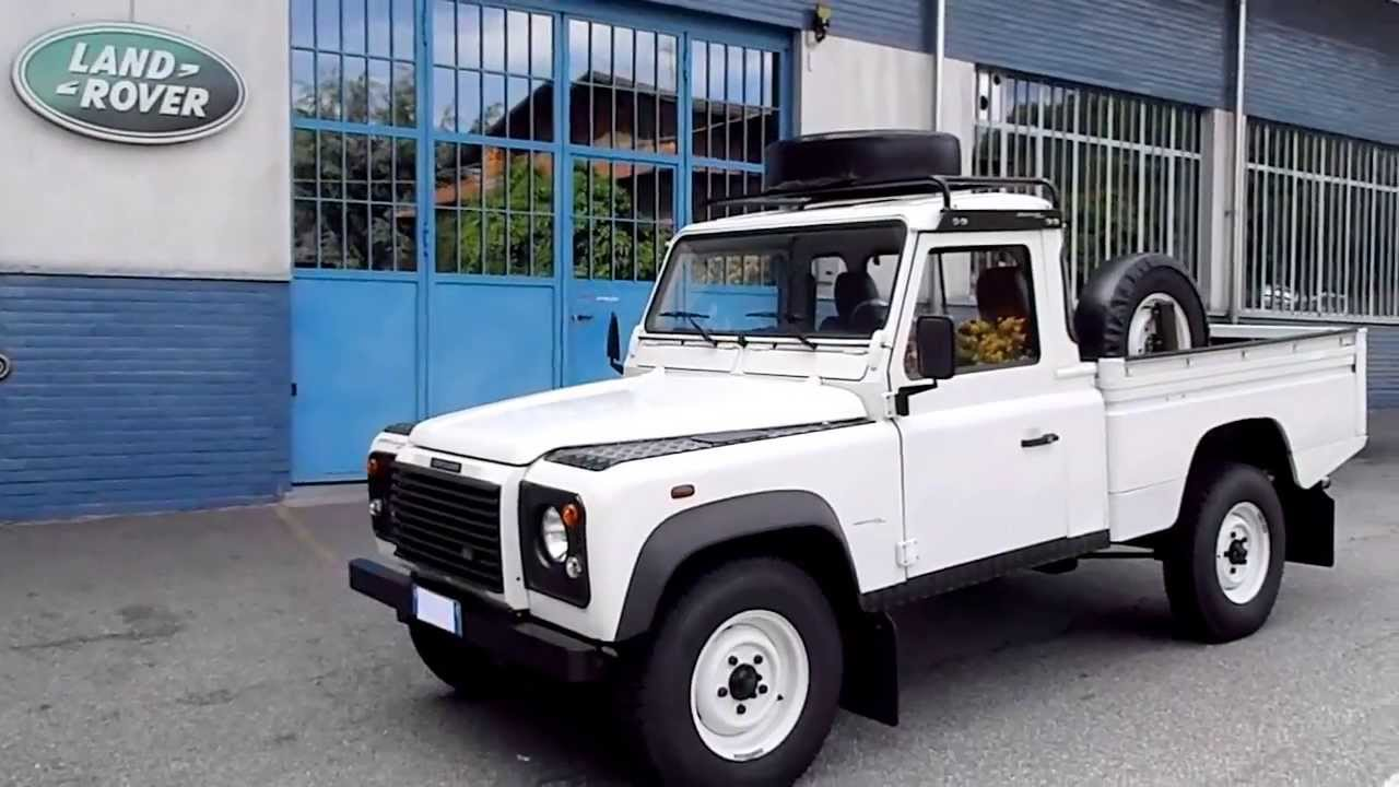 Special Land Rover Defender 110 TD5 Pick Up High Capacity - YouTube