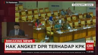 Breaking News! Anggota DPR Walk Out Saat Paripuna, Hak Angket DPR Terhadap KPK