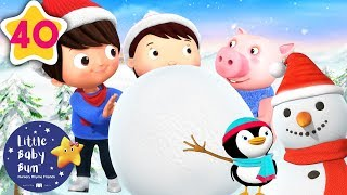 Let's Make a Snowman   Christmas Songs for Kids   Baby Songs  +More Nursery Rhymes   Little Baby Bum