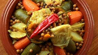 Couscous with Seven Vegetables / كسكس سبع خضار - CookingWithAlia - Episode 423