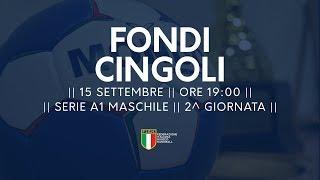 Serie A1 Maschile [2^ giornata]: Fondi - Cingoli 26-27