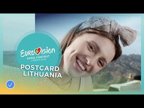 Postcard of Ieva Zasimauskaitė from Lithuania - Eurovision 2018