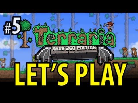 Terraria (Xbox 360) - Let's Play w/Big B statz - WINGS - PART 5