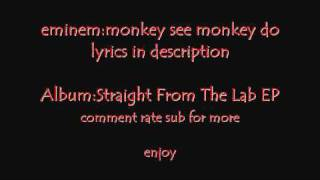 Watch Eminem Monkey See, Monkey Do video