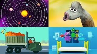 StoryBots | Top StoryBots Songs | Favourite Songs For Children | Outer Space, Dinosaurs and Trucks!
