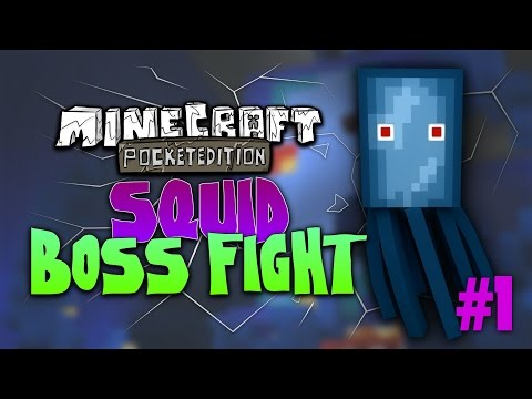 MCPE ADVENTURE MAP SQUID BOSS FIGHT EP 1