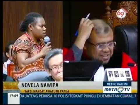Novela, Saksi lucu dari Papua di MK Menjadi Tawa