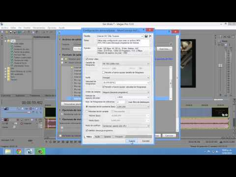 Como comprimir video en HD sin perder calidad en Sony Vegas 12