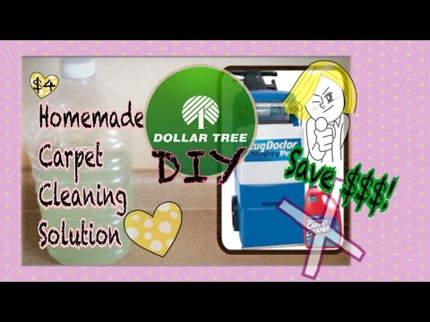 Dollar Tree DIY: Easy Homemade Carpet Cleaning Solution for Machines!