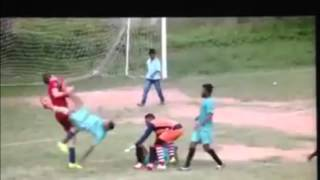 Big bully in Bangalore neutralised by an unbelievable flying kick in The Amateur League