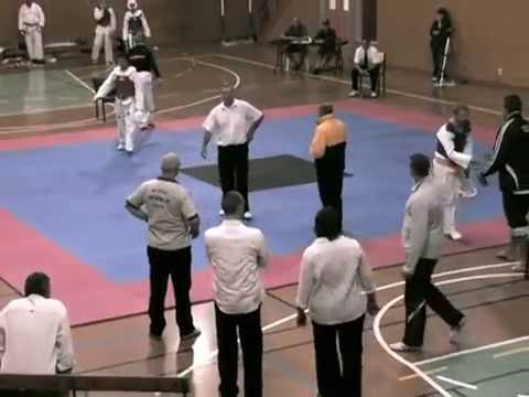 Tae Kwon Do Yellow Belt - Green Tip Tournament Fight Image 1
