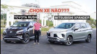 Đánh giá xe - Toyota Rush vs Mitsubishi Xpander? |XEHAY.VN|