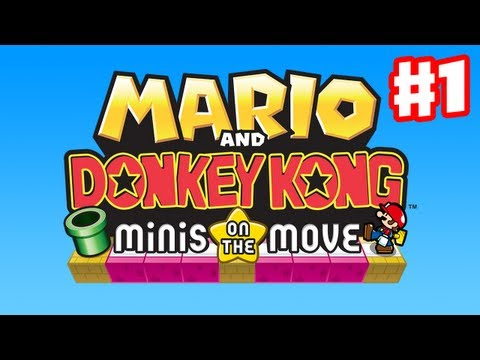 Mario and Donkey Kong: Minis on the Move Gameplay Walkthrough Part 1 Intro Nintendo 3DS