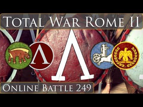 Total War Rome 2 Online Battle 249 Team 2v2
