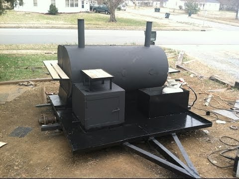 How to build utility trailer PigCooker / Smoker Grill