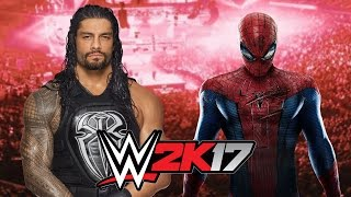 Roman Reigns vs  Spider Man