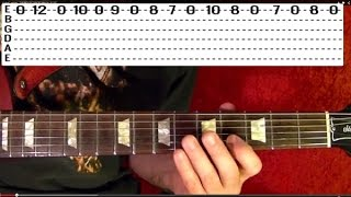 ACDC Thunderstruck Guitar Tutorial Lesson how to play