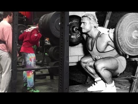 Tom Platz Squatting 365lbs for reps at age 62