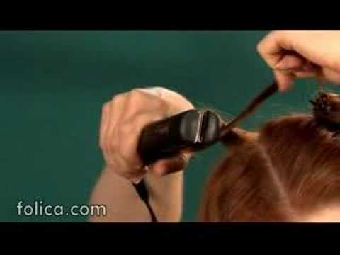 How to curl your hair with a hair straightener.