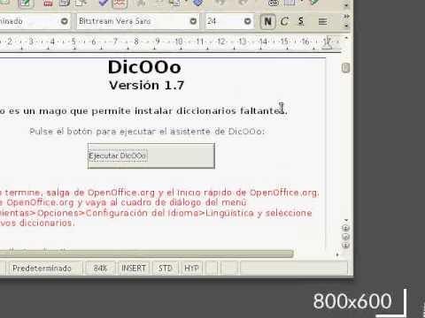 Instalar diccionario OpenOffice.org de un paquete descargado