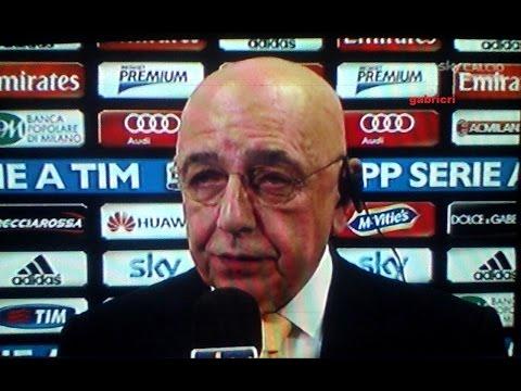 Milan Verona 2 2 Galliani tic nervosi a Sky Sport