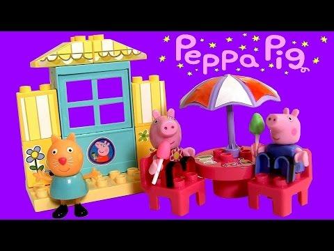 Peppa Pig Mega Blocks Ice Cream Parlor Set – Sorveteria Juego de Bloques Heladería con Cucuruchos