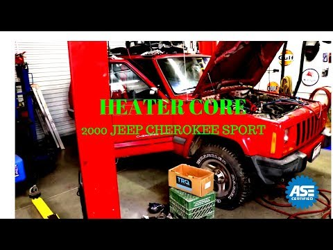 Heater core replacement 2000 Jeep Cherokee Sport