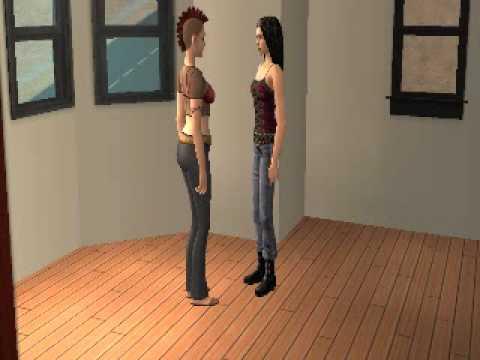 Sims Kissing